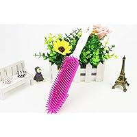 LadyBeauty Cepillo de Pelo del Perro Cepillo de baño de manija Larga (Rose Red) Cat Comb