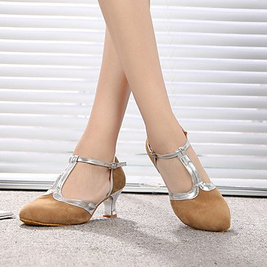 Xiamuo Calcanhar Interior Patente Preto Agulha Saltos Latina Dança De Prática Moderno Sapatos Pele Camurça 8RIx7r8q