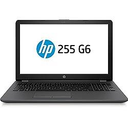 HP 255 G6, Notebook 15.6 pollici, APU AMD E2-9000e, RAM 4GB, HDD 500 GB, 1366x768, Senza sistema operativo, Nero [Italiano] [Italia]