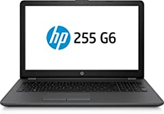 Idea Regalo - HP 255 G6, Notebook 15.6 pollici, APU AMD E2-9000e, RAM 4GB, HDD 500 GB, 1366x768, Senza sistema operativo, Nero [Italiano]