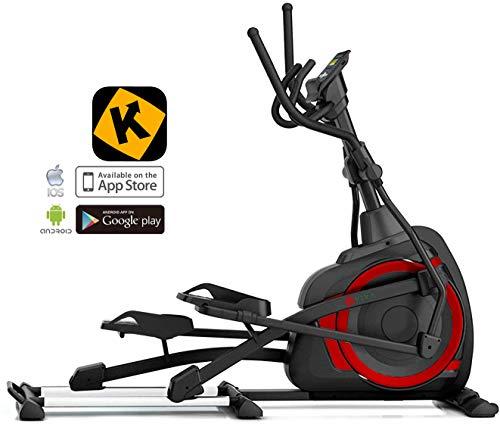 AsVIVA Ellipsentrainer Ergometer E4 mit APP-Bluetooth Steuerung, integrierte Handpulssensoren - Heimtrainer mit elliptischem Bewegungsablauf sowie XL Anti-Rutsch Pedale   18kg Schwungmasse