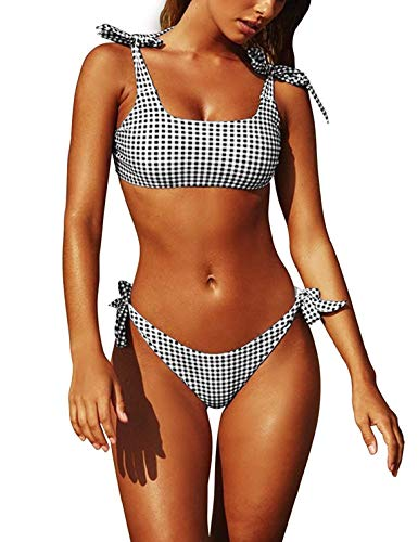 eafcf251dbf5 Yuson Girl Conjuntos De Bikini De Talle Alto a Tartán Sexy Retro Brasileños  Mujer Traje De