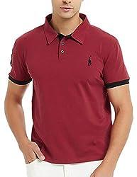 GLESTORE Herren Poloshirt Einfarbig Basic