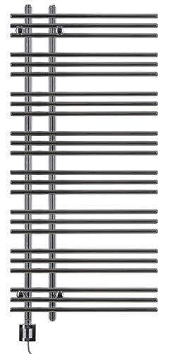 Design Elektro-Badheizkörper Bersa 1300h x 600b in chrom mit Elektro-Heizpatrone KTX-4 400W