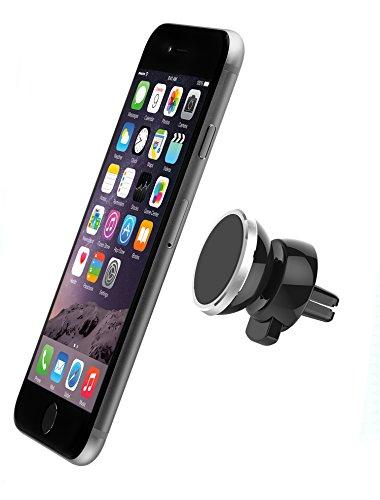LeOx - Universaler Auto Halter magnetische Kfz Halterung Lüftung iPhone 6/6S Plus Airframe Kfz-Halterung Magnet Lüftungsschlitz für Tablet Auto Handyhalter für iPad , Samsung Galaxy S5/S6 Kfz Halter Lüftungsgitter für alle Smartphones Car Mount Holder. Rotation 360° - Schwarz