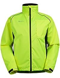 Mountain Warehouse Adrenaline Mens High Visibility Jacket - Breathable Mens Coat, High Viz Print, Adjustable Hem, Waterproof Rain Coat - For Cycling, Running & Walking