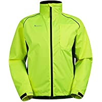 Mountain Warehouse Adrenaline Mens High Visibility Jacket - Breathable Mens Coat, High Viz Print, Adjustable Hem, Waterproof Rain Coat - For Cycling, Running & Walking