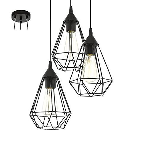 Eglo Lampe Suspendue Culot E27 'Tarbes'Noir Mat