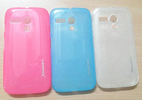 Blue Color Slim Thin Soft Rubber Transparent Case For Moto G