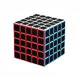 Axcone Cubo Fibra del Carbón Cubo Mágico Cubo Puzzle Cubo Mágico Inteligencia Mágico Cubo Rompecabezas y Fácil Giro, Súper Duradero para Brain Training Game para Regalo de Adulto para Niños(5x5)