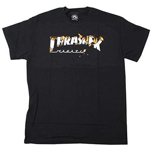 Thrasher t-shirt intro burner nero (s, nero)
