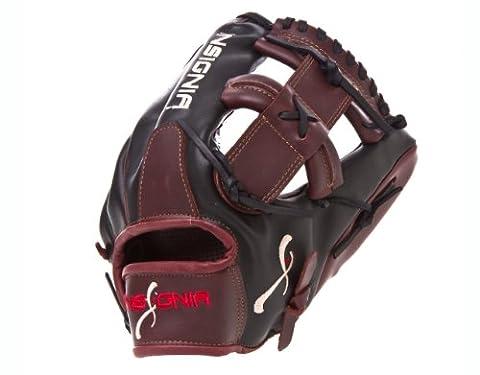 Insignia Defiant Single Post Web Baseball Handschuh (12.50-inch, schwarz und Burgund)