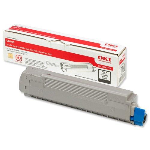 Preisvergleich Produktbild Original Toner passend für OKI C 8800 DN OKI C8600 43487712 - Premium Drucker-Kartusche - Schwarz - 6.000 Seiten