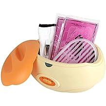 Crisnails ® Calentador de parafina Profesional fundidor de cera Calentamiento Rápido 3Lkit Guantes Pie Manos Naranja