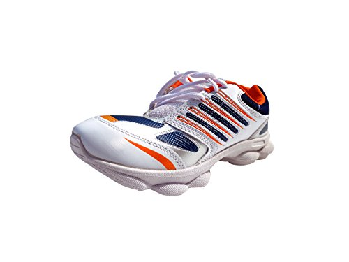 Super Divine Collections - Goodlook / Running & Outdoor Sports Shoes-White & Orange