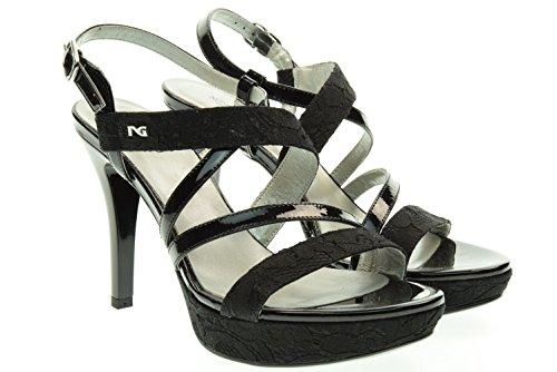 NERO GIARDINI donna sandali con tacco P615780DE/100 Nero