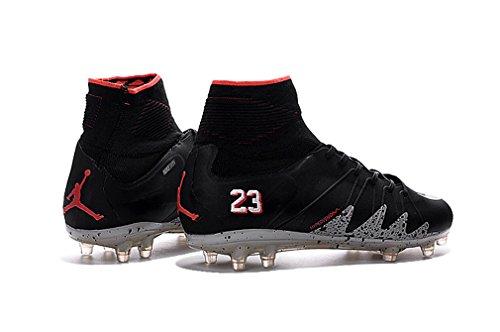 Para hombre Hypervenom Phantom II FG Botas de fútbol zapatos de fútbol negro de gran parte superior, hombre, negro, UK6/EUR39