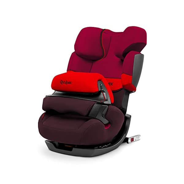 CYBEX Silver Pallas-Fix 2-in-1 Child's Car Seat, For Cars with and without ISOFIX, Group 1/2/3 (9-36 kg), From approx. 9 Months to approx. 12 Years, Rumba Red Cybex Sturdy and high-quality child car seat for long-term use - For children aged approx. 9 months to approx. 12 years (9-36 kg), Suitable for cars with and without ISOFIX Maximum safety - Depth-adjustable impact shield, 3-way adjustable reclining headrest, Built-in side impact protection (L.S.P. System) 11-way height-adjustable comfort headrest, One-hand adjustable reclining position, Easy conversion to Solution X-Fix for children from 3 years (group 2/3) by removing impact shield and base, Adjustable backrest 1