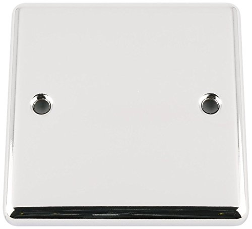 A5 PBSCC Elektrik-Abdeckplatte 1-Gang Single Classic Chrom, poliert Chrom-platte