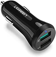 UGREEN Fast Car Charger Adapter 30W 5.4A Dual USB Quick Charge QC 3.0 3A and iSmart 2.4A USB for iPhone 11 Pro Max Xs X Xr 8