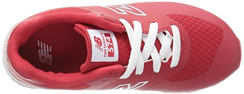 Nuovo Liscio Bassi Sneakers Fille Kl574 Equilibrio Bianco Rosso pwrqXFpxU