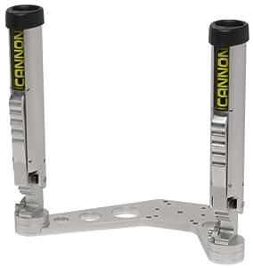 Cannon adjustable rod holders downrigger mount silver for Fishing rod holders walmart