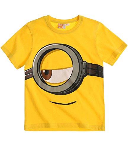 Minions Despicable Me Chicos Camiseta de manga corta - Amarillo - 128