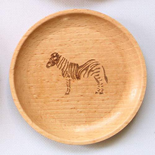 (ZHUANGJI Holz Handwerk multifunktionale tägliche Buche Obstschale,Zebra Zebra)