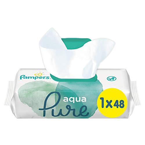 Pampers Aqua Pure Feuchttücher, mit 99% Purem Wasser, Dermatologisch Getestet, 3er Pack (3 x 48 Stück)