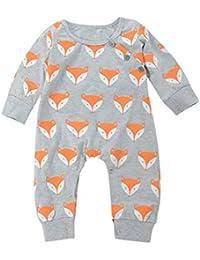 Mono bebé ❤ Amlaiworld Lindo recién nacido bebé niño niña Fox impresión ...