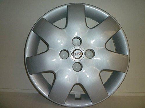 R.Vi.Autoforniture srl Set 4 Coppe Ruota Copricerchio Borchie Nissan Micra dal 2003 r 15 (Logo Cromato)