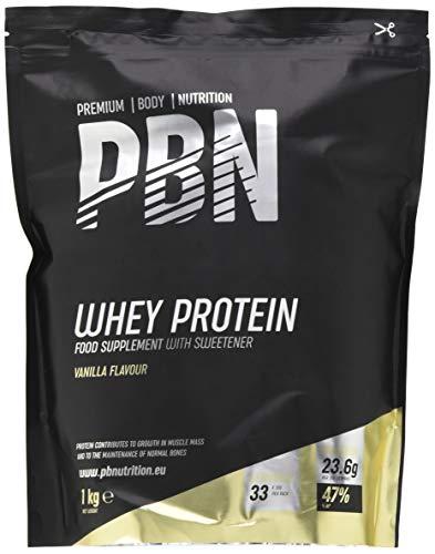 PBN Whey Protein / Molkeeiweißpulver, 1kg Vanille - Premium Whey Protein