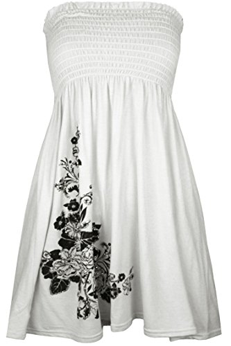 Unknown - Robe - Femme X-Large Blanc