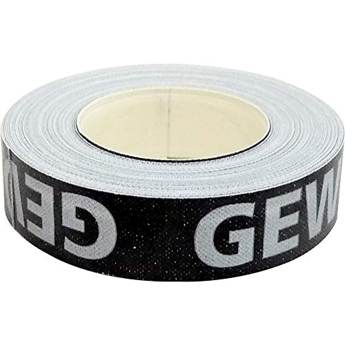 GEWO Kantenband 9mm/5m schwarz/Silber, St, schwarz/Silber