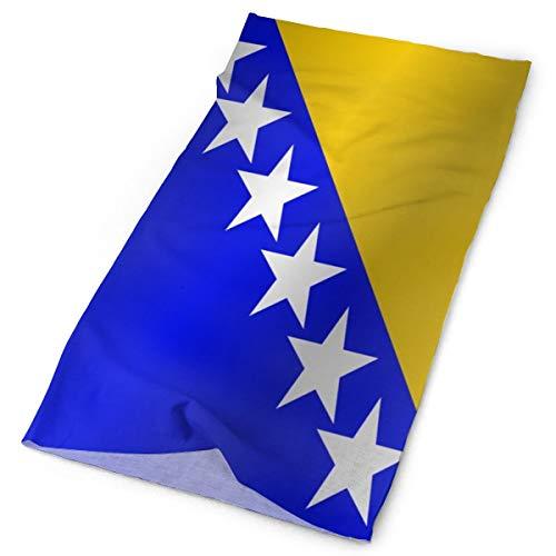 Bandera multifuncional al aire libre de bosnia y herzegovina_997 Bandana Headwear deportes diadema bufanda mágica para mujer para mujer