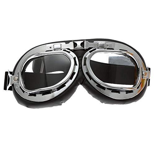 mtsooning Brillen Vintage Style für Aviator Pilot Cruiser Motorrad Radfahren Helm Gläser
