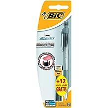 Bic Atlantis - Pack de lápiz, 12 minas HB y goma de borrar