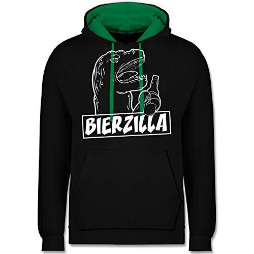 Shirtracer Halloween - Bierzilla - XL - Schwarz/Grün - JH003 - Kontrast Hoodie