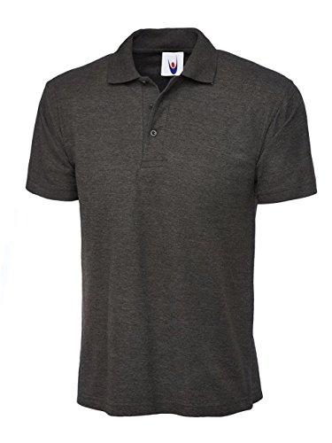 CLASSICHerren Poloshirt, Einfarbig Anthrazit