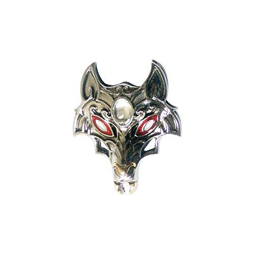 Gothic-Kinder Anhänger romantische der Nacht-Maske der Wolf, Lieferung in einem Täschchen aus satin, Karminrot -