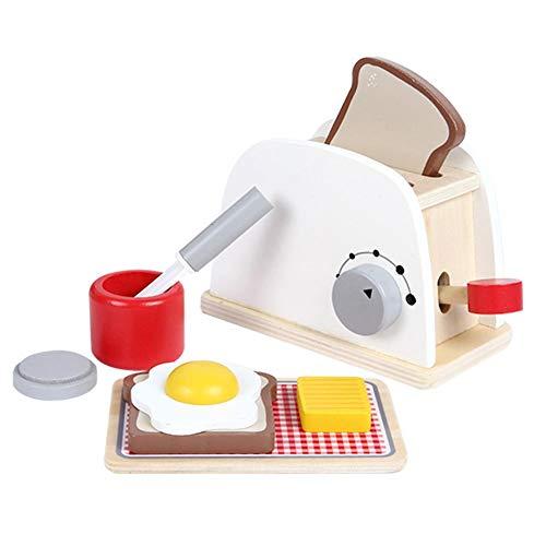 pielzeug Simulation Holz Toasters Brot Hersteller Kind Pretend Spielt Spielzeug Developmental Educational Pretend Play Haushaltstechnik Küchen Spielzeug Geschenk ()