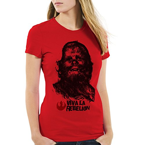 style3 Viva La Rebelion Damen T-Shirt rebellion guevara revolution, (Jedi Star Weibliche Wars)