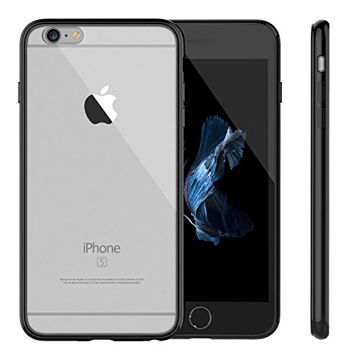 Custodia iPhone 7 Plus,V-SimBo Apple iPhone 7 Plus Case Custodia Cover Shock-Absorption Bumper e Anti-Scratch Clear Back per iPhone 7 Plus 5.5 (Nero)