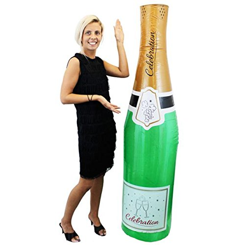 ILOVEFANCYDRESS AUFBLASBARE Champagne Flasche Ungefähr 180cm Hoch= DIE Perfekte Dekoration FÜR Jede Art der Party der Hochzeit Oder Geburtstag