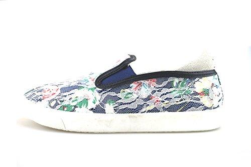 ENRICO COVERI sneakers bambina blu tessuto AG249 (38 EU)
