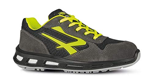 U POWER Scarpe Antinfortunistiche da Lavoro di Sicurezza Yellow S1P SRC REDLION (44 EU)