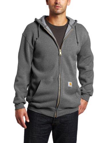 Carhartt K122 Hooded Zip Front Sweatshirt, Größe:XXL, Farbe:dunkelgrau K122 Zip-front Sweatshirt