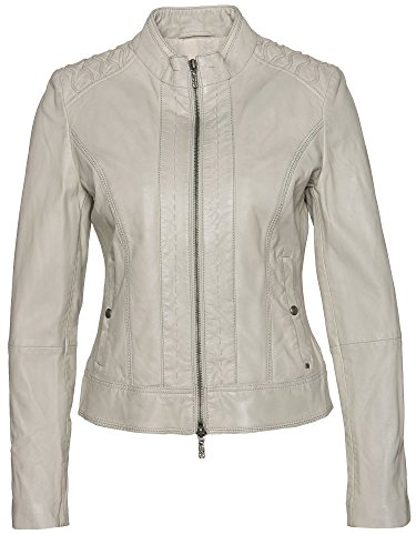 BOSS Orange Lederjacke Janassi 50318310 Damen, Naturweiß, 40