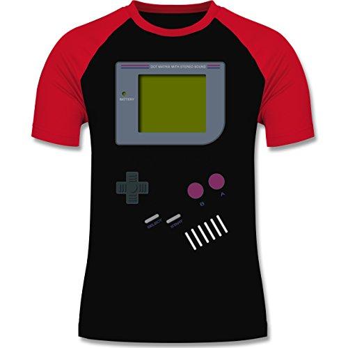 Shirtracer Nerds & Geeks - Gameboy - Herren Baseball Shirt Schwarz/Rot