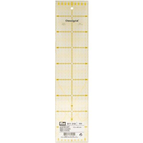 Prym Universelles Lineal, mit metrischer Winkelskala, 10 x 45 cm